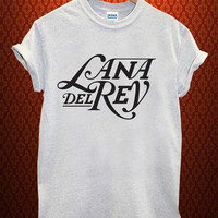 lana del rey logo Music tee Ash Grey t Shirt Men and Women T Shirt more size available