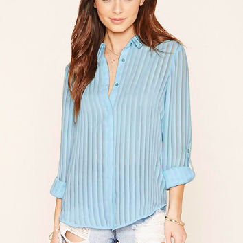 Sheer Striped Shirt