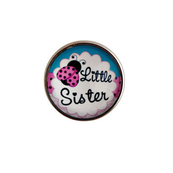 Little Sister Snap Charm 20mm for Snap Jewelry