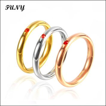 Fashion Classic rings for women Wedding Bands High quality jewelery Stainless Steel New design ring Cute/Romantic rings