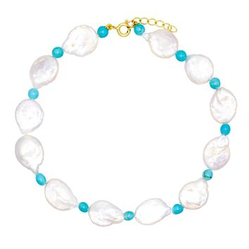 Pearl Disc Anklet