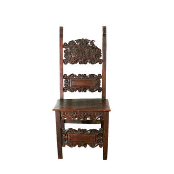 1400s Chair, Historic Furniture, 15th Century Gothic Antique Decor