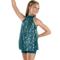 Sequin Mesh Halterneck Dance Top; Balera