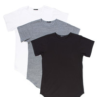Black/Grey/White | Long Tee 3 Pack