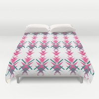 Pink Dart Duvet Cover by ALLY COXON | Society6