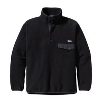 Patagonia Men's Synchilla® Recycled Snap-T® Fleece Pullover | Black w/Rockwall