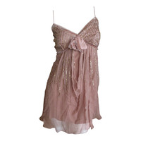 Dior by Galliano Nude Silk Sequin Dress Tunic