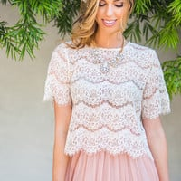 Tayla Cream Lace Top