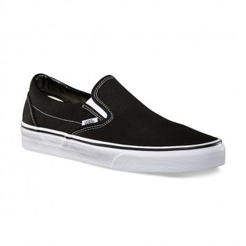 Slip-On Black Canvas by Vans at Tip Top Shoes