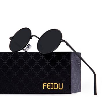 FEIDU Retro Polarized Round Sunglasses for Men Vintage Sunglasses Women FD3013