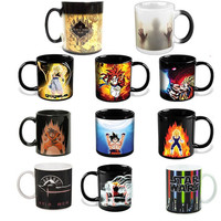 Anime Coffee Cup Mug Lord of The Rings Mark Star War Harry Potter Dragon Ball Z Game of Thrones Walking Dead Color Changing Copo