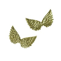 Embossed Angel Wing Party Favor Embellishments, 1-1/2-Inch, 6-Count, Gold