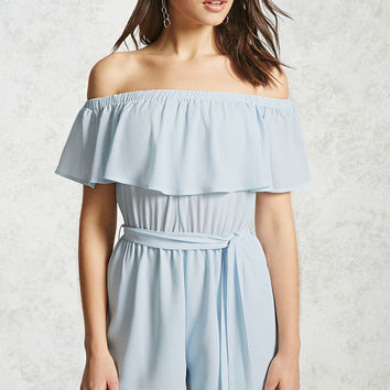 Crepe Off-the-Shoulder Romper