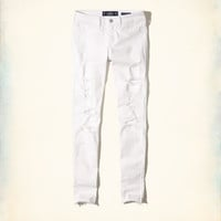 Girls Shredded Low-Rise Super Skinny Jeans | Girls Bottoms | HollisterCo.com