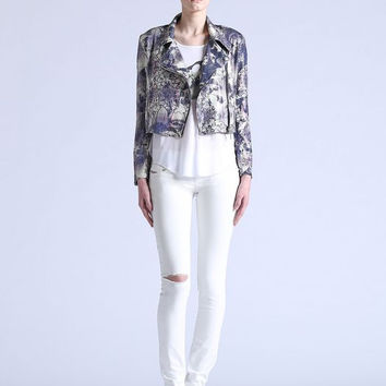 Diesel Sequin Cropped Printed Jacket