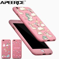 Full Body Protection Cover for iPhone 8 6 6S 7 plus Unicorn Flamingo 360 Degree Full Coverage Cases for iphone X 5 5S SE Coque