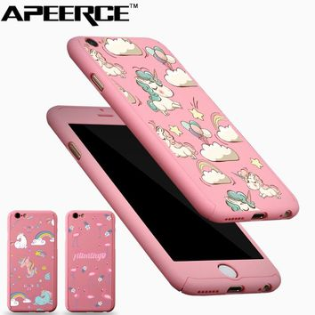 Full Body Protection Cover for iPhone 8 6 6S 7 plus Unicorn Flam acfbed21341e