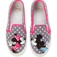 Disney Mickey & Minnie Mouse Kiss Slip-On Shoes