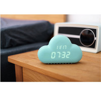 Creative Small Alarm Clock In The Shape Of Cloud USB/Battery-powered Voice Activation Snooze LED Alarm Clock