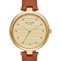 kate spade new york varick leather strap watch, 36mm | Nordstrom