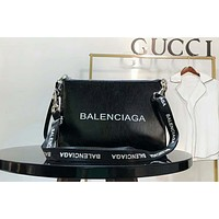 BALENCIAGA 2018 new fashion women's high-end graffiti series shoulder bag F-AGG-CZDL Black