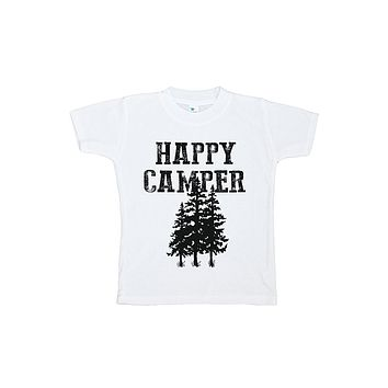 Custom Party Shop Kids Happy Camper Outdoors T-shirt