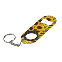 Sunflowers Keychain Bottle Opener
