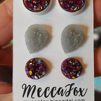 Mecca Fox Maroon & Gray Teardrop