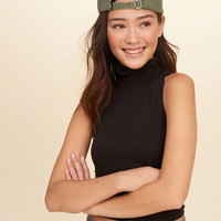 Girls Cropped Mock Neck Tank Top | Girls New Arrivals | HollisterCo.com