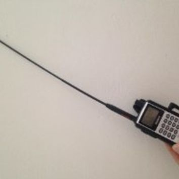 "Diamond (Original) SRH77CA 144/440 MHz. Dual-Band High Gain Handheld Antenna Rx: 120~900 MHz. (Gain: 440 Mhz. 2.15 dBi, Max Power: 10 Watts, Length: 15"") SMA"