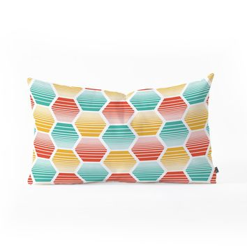 Heather Dutton Honey Jive Summerlicious Oblong Throw Pillow