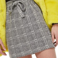 Topshop Paperbag Waist Checkered Skirt | Nordstrom