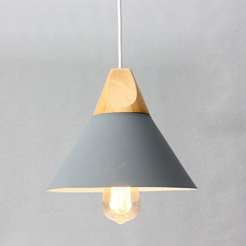 E27 60W Modern Wooden Pendant Ceiling Hanging Lamp Covers Holder Chandelier Kitchen Dining Room Light Fixture Lamp Base 25cm