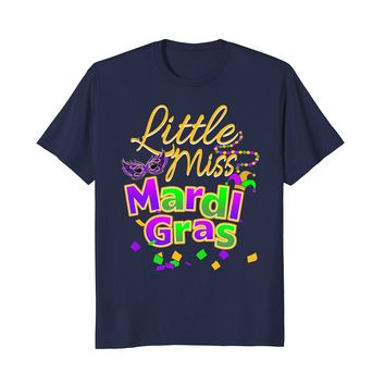 Cute Little Miss Mardi Gras T Shirt