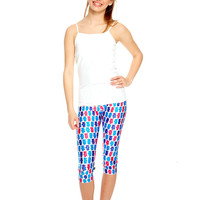 Girls Berry Bears Capri Leggings