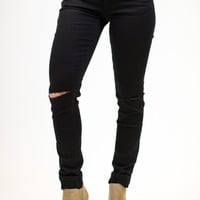Hometown Distressed Black Denim
