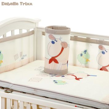Daballa Trixx Baby Bed Bumper Baby Bumpers in the Crib Bed Protector Mesh Cot Protection Baby Bed Cushion Sets for Spring Summer