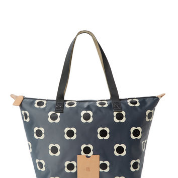Orla Kiely Women's Flower Spot Tote Bag - Grey