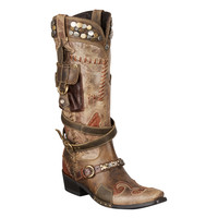 Double D Ranch Boots - Frontier Trapper Multi-colored