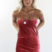 Rose For Days Velvet Mini Dress