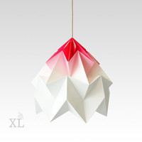 XL Moth origami lampshade gradient pink