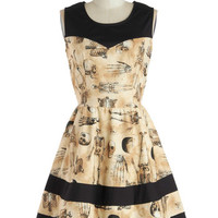 ModCloth Quirky Mid-length Sleeveless Fit & Flare The Body Eclectic Dress
