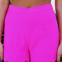 Sweet Summertime Shorts - Hot Pink