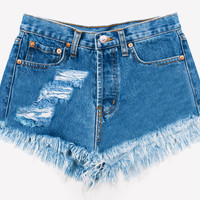 Slashed Denim Dreamer Cut Off Shorts