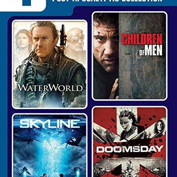 Kevin Costner & Eric Balfour & The Brothers Strause & Alfonso Cuaron -4 Movie Marathon: Post-Apocalyptic Collection Waterworld / Skyline / Children of Men / Doomsday