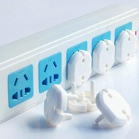 10pcs Euro Standard 2 Phase Baby Electrical Safety Socket Security Safety Lock Plug Protective Cover
