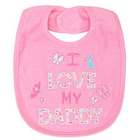 Koala Baby Girls' I Love Daddy Bib