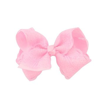 2017 New Girls Fashion Boutique Bows with Clip Grosgrain Ribbon  Bow Hairpins Kids Lace Hair Accessories