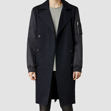 Mens Gunner Mac (Dark Ink) | ALLSAINTS.com