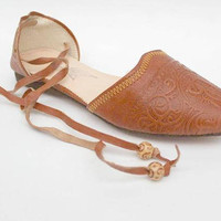 Boho leather flats women/ leather flats  leather ballet flats,Boho leather flats women tan leather flats women's shoes, chaussures femme